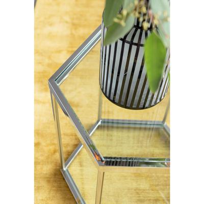 Mesa auxiliar Comb plata 55cm