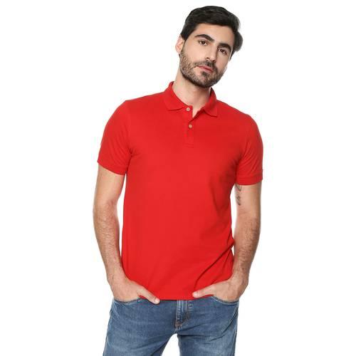 Polo Color Siete Para Hombre - Rojo