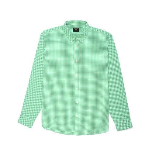 Camisa Cuadros Manga Larga - Verde