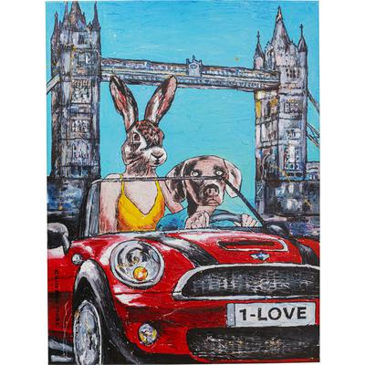 Cuadro Animal Pair London 80x60cm