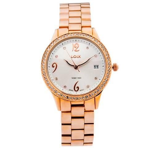 Reloj Blanco - Rosa - L1152-01
