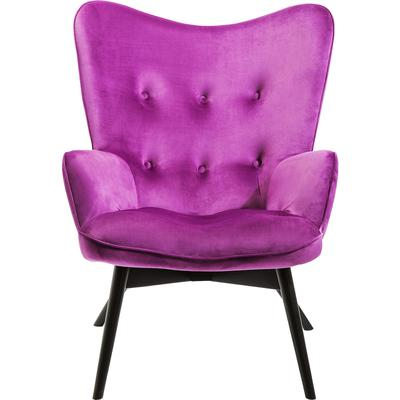 Sillón Black Vicky Velvet púrpura