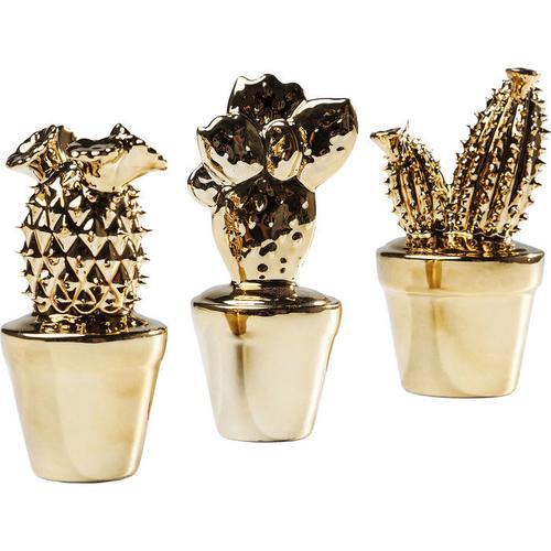Objeto decorativo Kaktus dorado Glossy varios