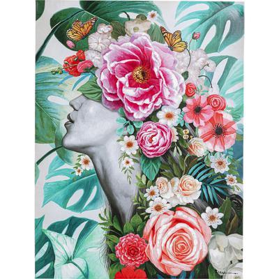 Cuadro Flower Lady 120x90