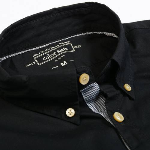 Camisa Manga Larga Jones Color Siete para Hombre  - Negro