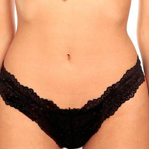 Panty Panty Hilo Lounge Lounge Negro - JESSIE DE LA ROSA LINGERIE