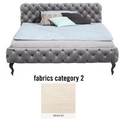 Cama Desire, tela 2 - Istinia 01, (100x157x228cms), 140x200cm (no incluye colchón)