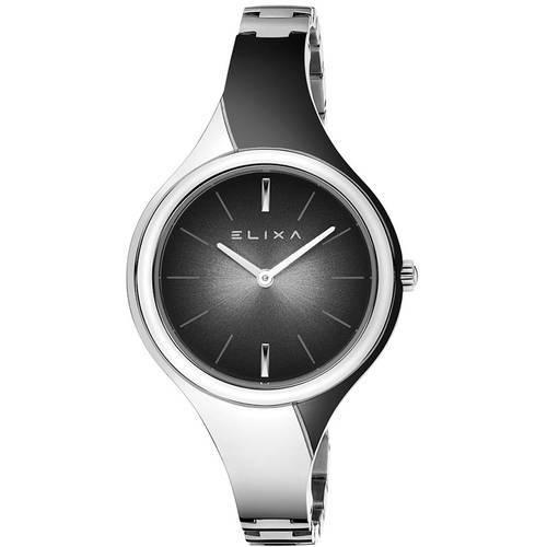 Reloj Beauty Bicolor Negro/Plateado 2-L452  - ELIXA