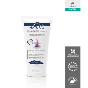 Gel Antiedad Con Algas Marinas y Vitaminas A y E Haiko Natural 50g