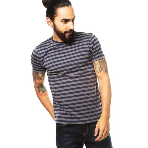 Camiseta Cuello Redondo Jack Supplies para Hombre - Azul