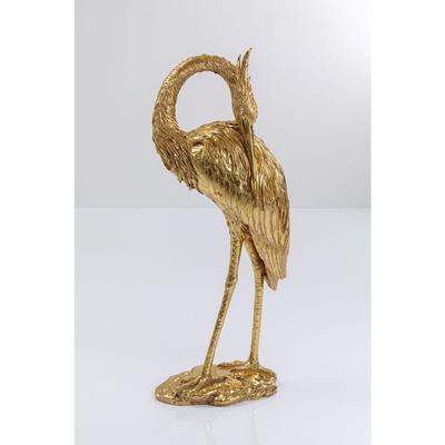 Objeto decorativo Crane oro