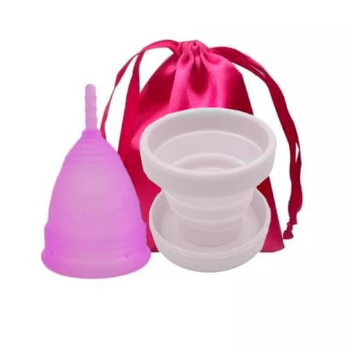 Copa menstrual Classic vivacup + Vaso esterilizador transparente