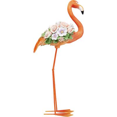 Objeto decorativo Flamingo Flower Power naranja 75