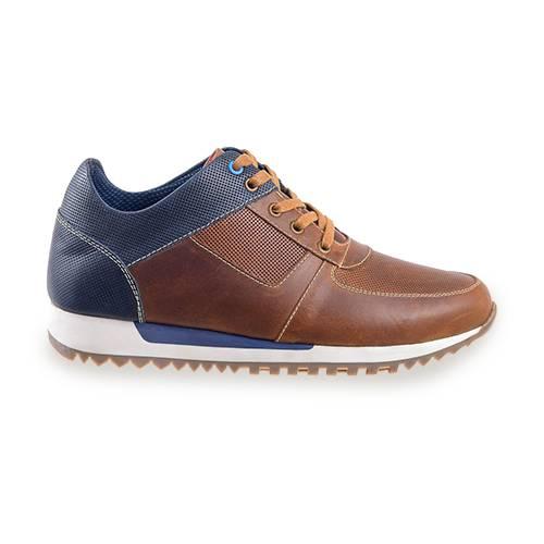 Sneaker En Cuero Miel