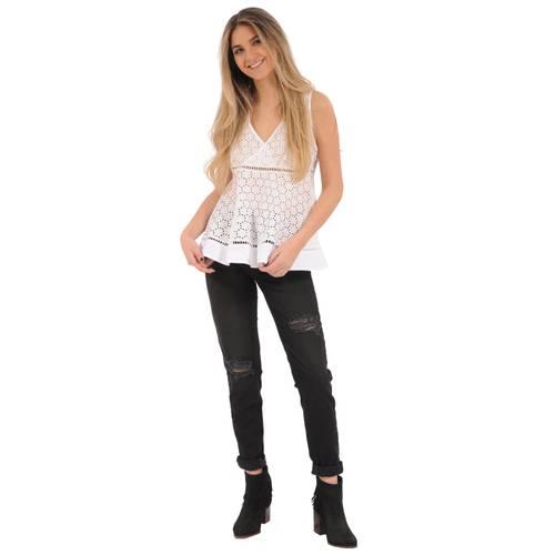 Blusa Victoria Rosé Pistol Para Mujer  - Blanco