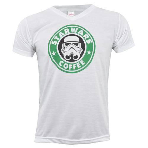 Camiseta Cuello V Starwars Coffe 0162 - ART GENERATION