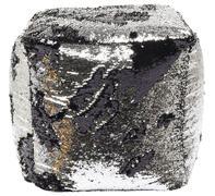 Taburete Disco Queen plata-negro 45x45c