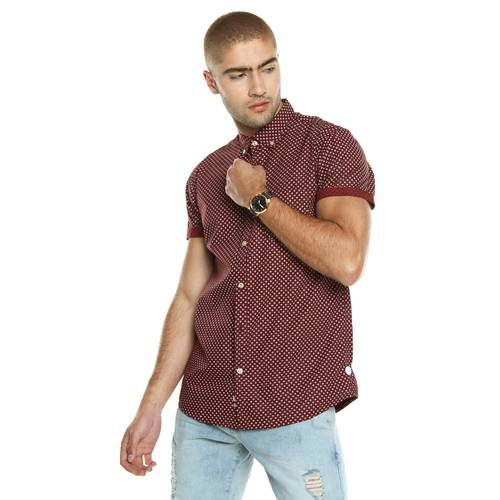 Camisa Manga Corta La Jolla Rosé Pistol Para Hombre  - Rojo