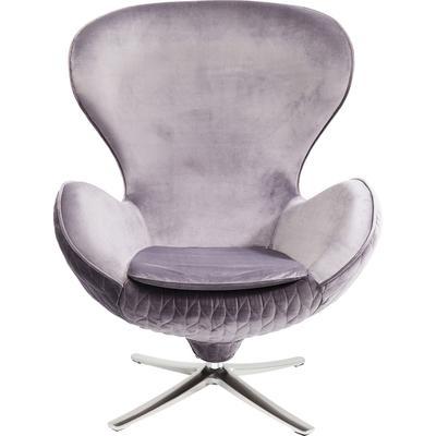 Sillón giratorio Lounge Leaf gris