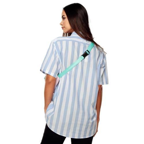 Camisa Manga Corta La Jolla Rosé Pistol - Azul