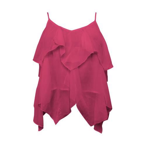 Blusa Rosé Pistol para Mujer - Rojo