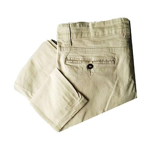 Pantalón En Dril Crema