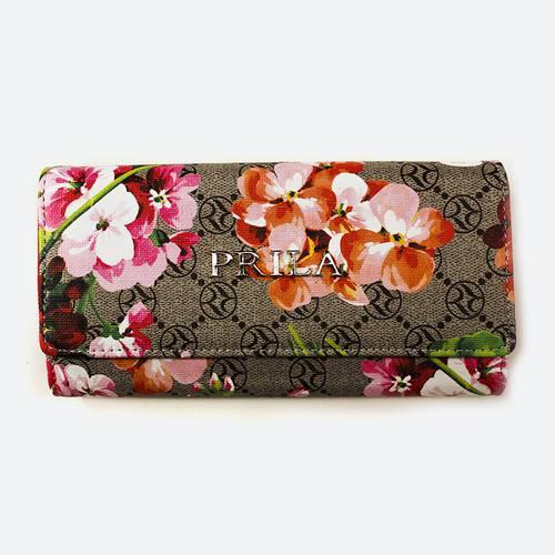 Billetera Larga Flores Roja - Locarno