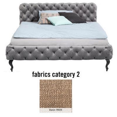 Cama Desire, tela 2 - Baron 9909, (100x177x228cms), 160x200cm (no incluye colchón)
