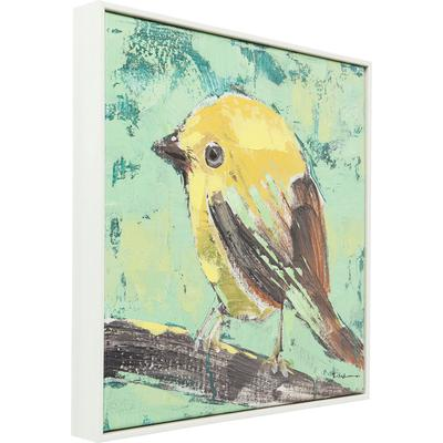 Cuadro Bird 40x40cm verde