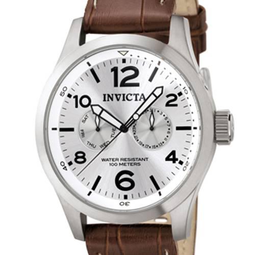 Reloj quartz plata-marrón 0765