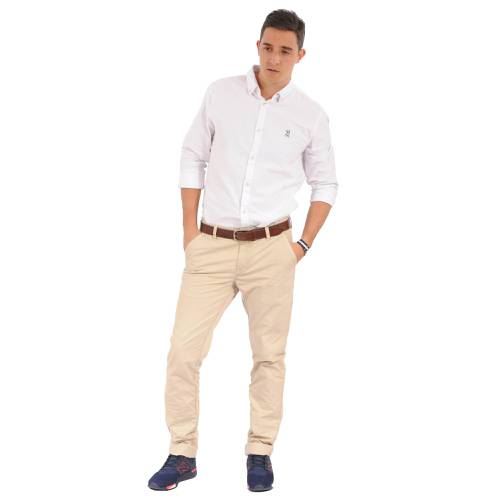 Camisa Manga Larga Oxford Jack Supplies Para Hombre - Blanco