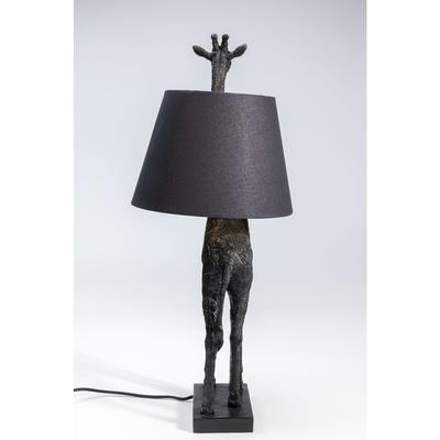 Lámpara mesa Giraffe mate negro