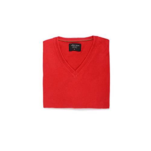 Sueter Color Siete Para Hombre  - Rojo