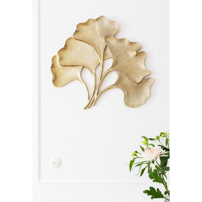 Decoración pared Ginkgo oro grande