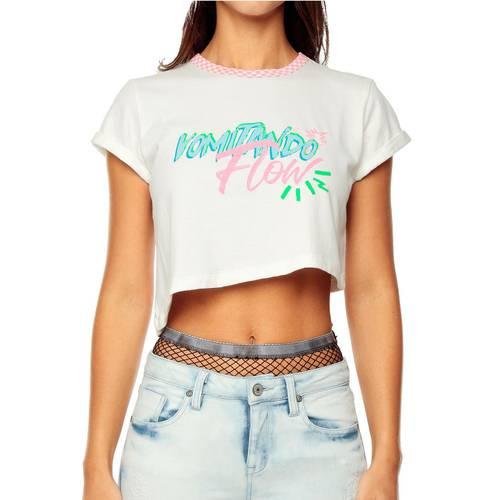 Camiseta Flow Printed Rosé Pistol Para Mujer  - Blanco