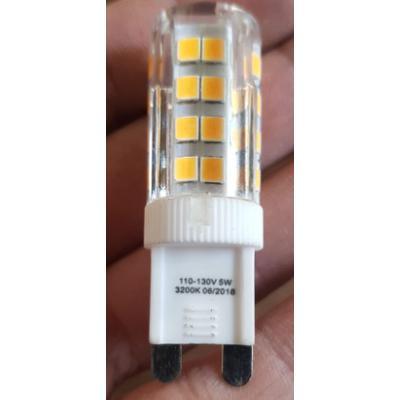 Bombillo G9 Luz cálida 110-130V 5W