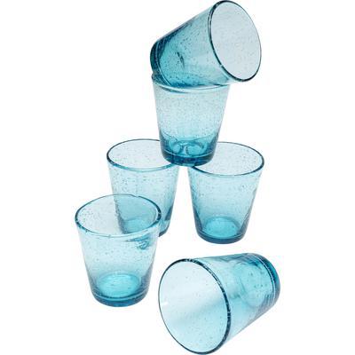 Cristal-Set Bubble azul (6/piezas)
