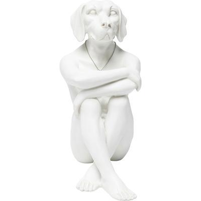 Figura decorativa Gangster Dog crema