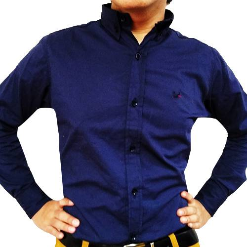 Camisa Manga Larga Azul Rey