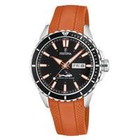 Reloj analógico negro-naranja 78-5