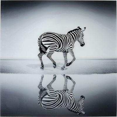 Cuadro cristal Savanne Zebra 120x120cm