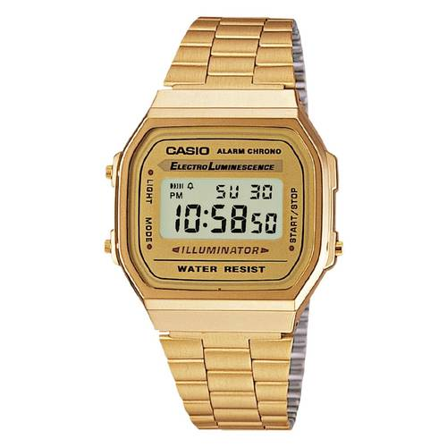 Reloj retro digital dorado G-9W