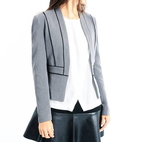 Blazer Color Siete para Mujer - Gris