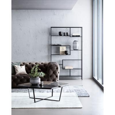 Sofá 4 p Metropol gris 238cm