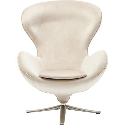 Sillón giratorio Lounge Velvet beige