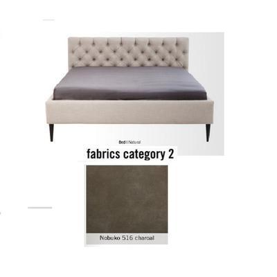 Cama Nova,  tela 2 - Nobuko 516 charoal,  (85x180x215cms), 160x200cm (no incluye colchón)