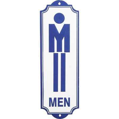 Cartel decorativo Toilet Men