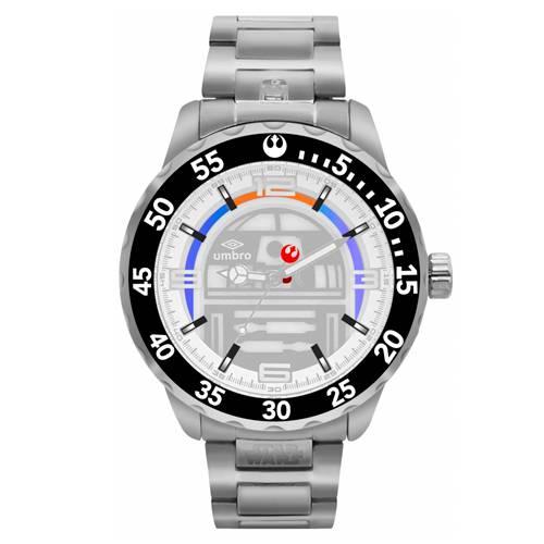 Reloj Análogo Plateado-Plateado Umb-Sw03-1