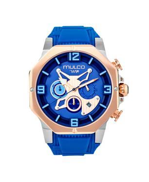 Reloj análogo azul-azul -043