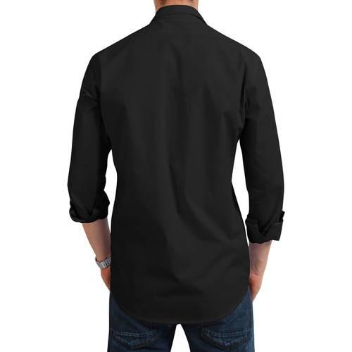 Camisa Manga Larga Jones Oxford Color Siete para Hombre - Negro